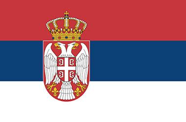 Serbische Flage